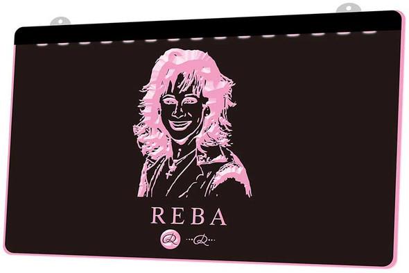 Reba McEntire Acrylic LED Sign