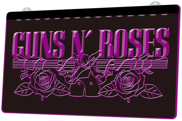 Guns N Roses Acrylic LED Sign