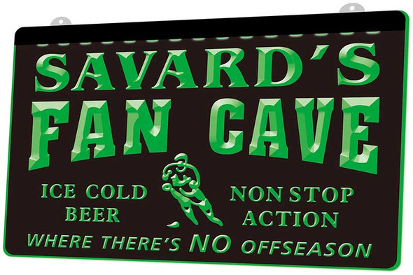 """""""YOUR NAME'S"""" Hockey Fan Cave Acrylic LED Sign"""
