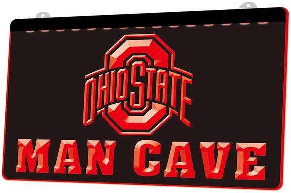 Ohio State Man Cave Acrylic LED Sign