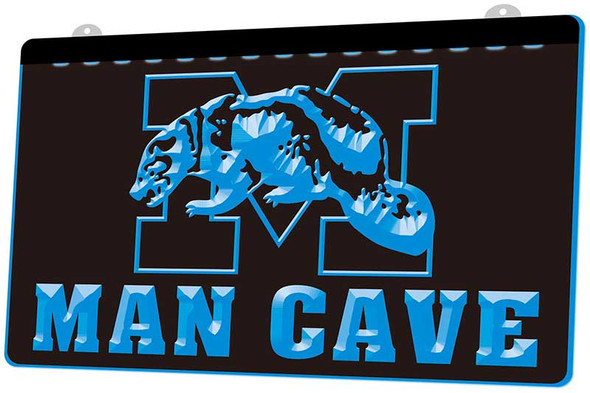 Michigan Wolverines Man Cave Acrylic LED Sign