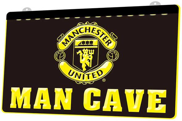 Manchester United Man Cave Acrylic LED Sign