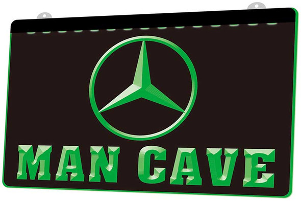 Mercedes Man Cave Acrylic LED Sign