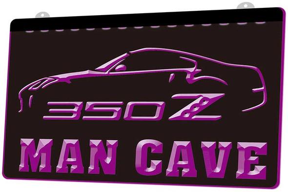 Nissan 350Z Man Cave Acrylic LED Sign
