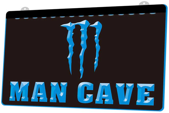 Monster Energy Man Cave Acrylic LED Sign
