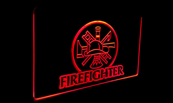 Firefighter Acrylic LED Sign