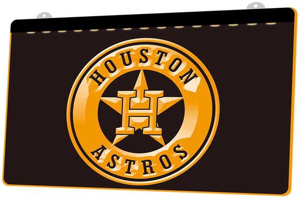 Houston Astros Acrylic LED Sign