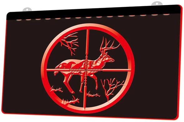 Deer Hunting Acrylic LED Sign