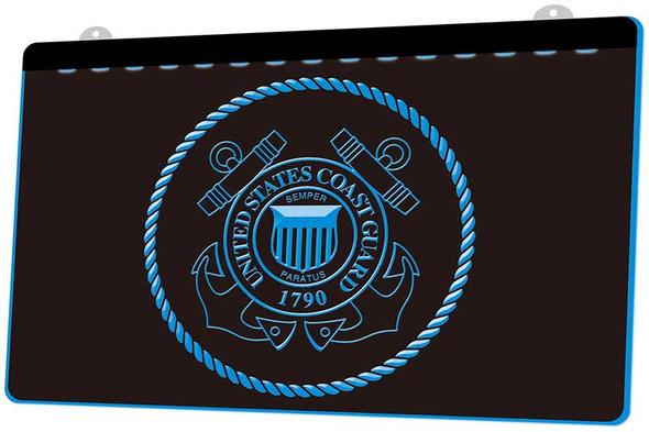 United States Coast Guard Acrylic LED Sign
