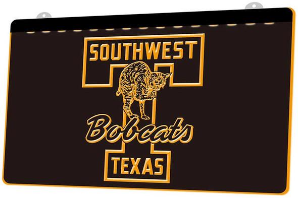 Southwest Texas Bobcats Acrylic LED Sign