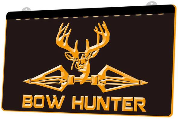 Deer Bow Hunting Acrylic LED Sign