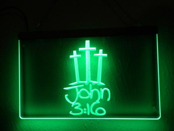 John 3:16 Acrylic LED Sign