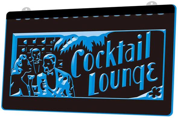 Cocktail Lounge Acrylic LED Sign