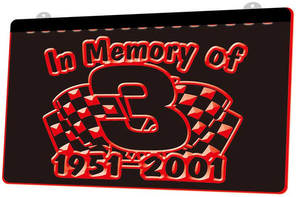 In Memory of Dale Earnhardt Acrylic LED Sign