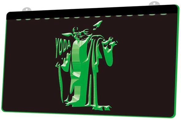 Yoda Star Wars Acrylic LED Sign