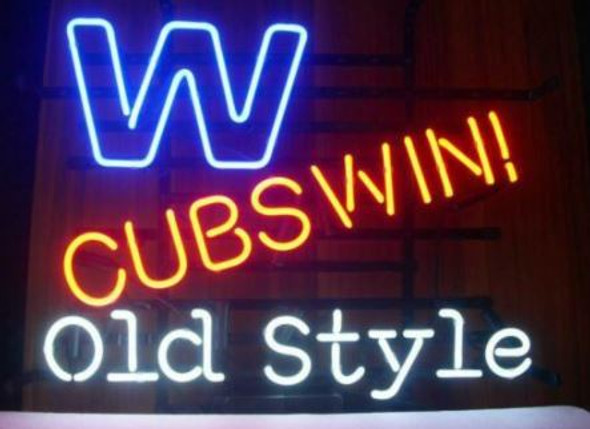 Custom Chicago Cubs Old Style Beer Glass Tube Neon Sign