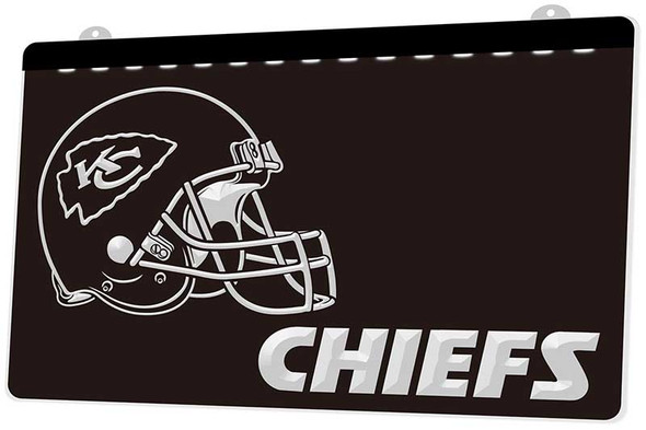 Kansas City Chiefs Acrylic LED Sign