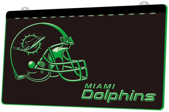 Miami Dolphins Acrylic LED Sign