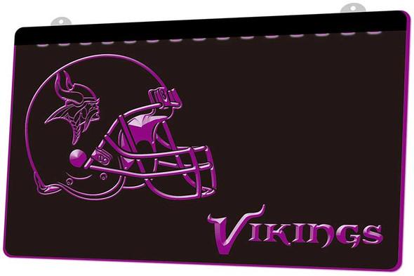Minnesota Vikings Acrylic LED Sign