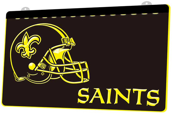 New Orleans Saints Acrylic LED Sign