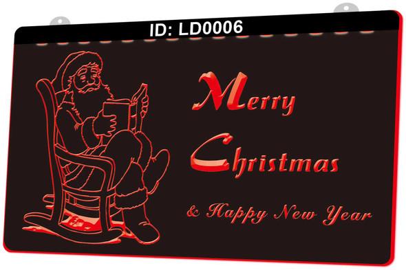 Merry Christmas Acrylic LED Sign