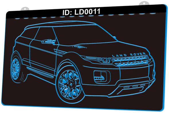 Land Rover Acrylic LED Sign