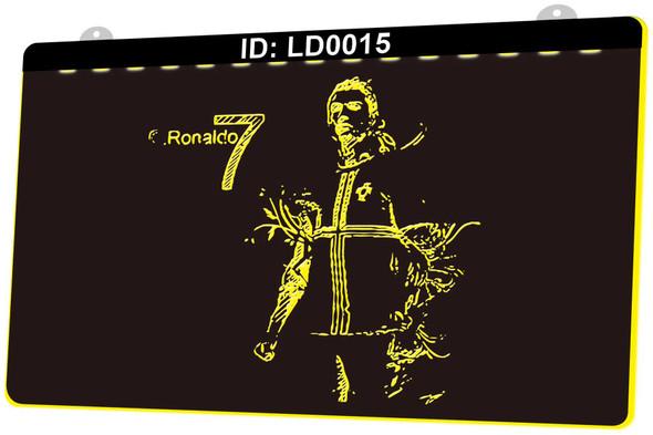 Ronaldo #7 Acrylic LED Sign