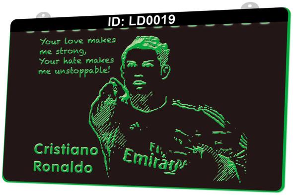 Real Madrid Ronaldo Acrylic LED Sign Option 2