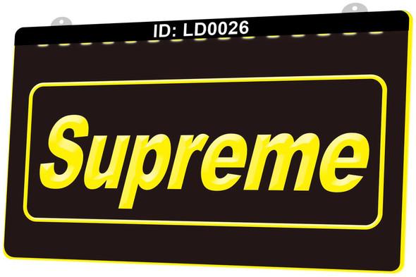 Supreme Acrylic LED Sign
