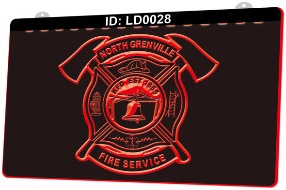 Your Fire Department Logo or Patch Acrylic LED Sign