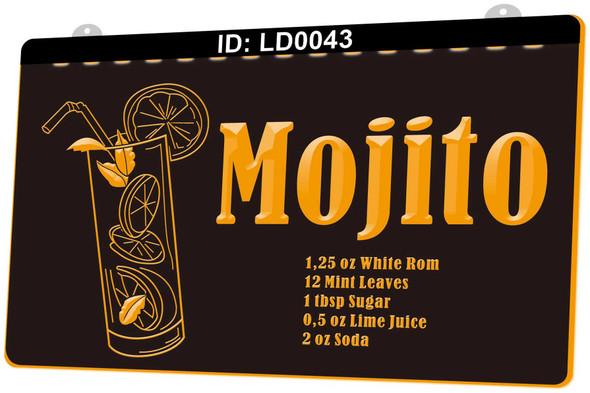 Mojito Acrylic LED Sign