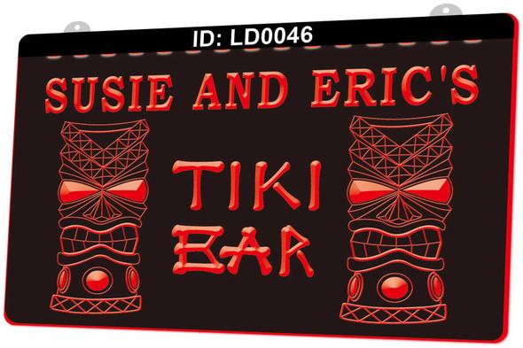 """Custom """"YOUR NAME"""" Tiki Bar Acrylic LED Sign"""