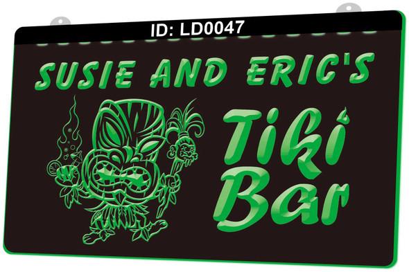 "Custom ""YOUR NAME"" Tiki Bar Acrylic LED Sign (A)"