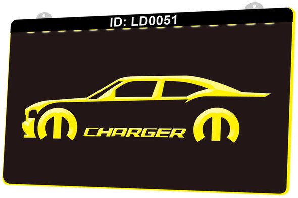 Dodge Charger Acrylic LED Sign
