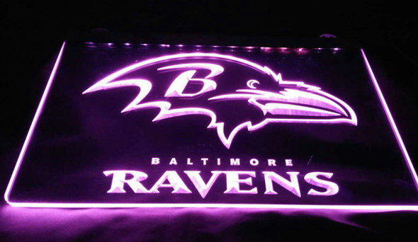 Baltimore Ravens Acrylic LED Sign