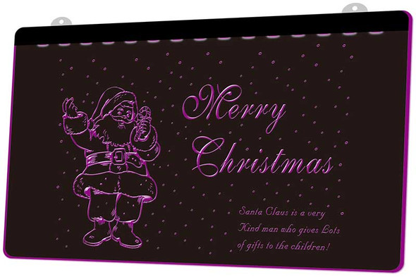 Christmas Santa Clause Acrylic LED Sign
