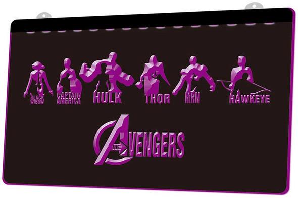 Avengers Acrylic LED Sign