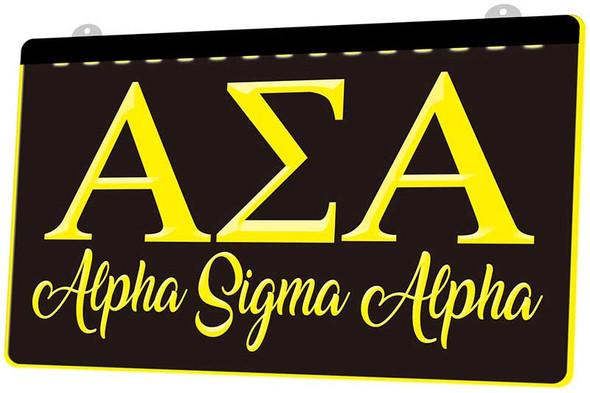 Alpha Sigma Alpha Acrylic LED Sign