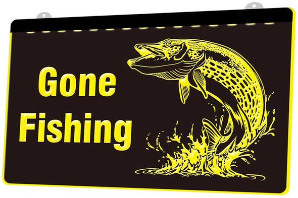 Gone Fishing Acrylic LED Sign