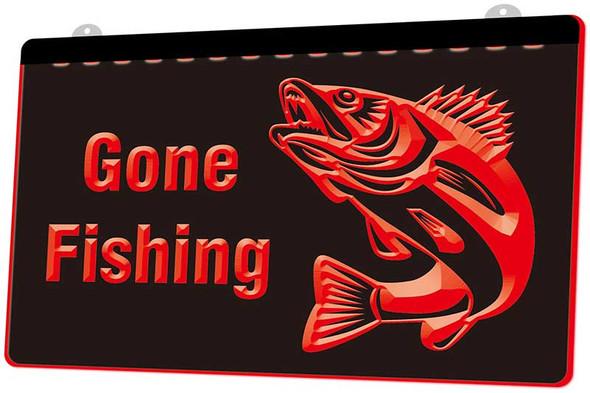 Copy of Gone Fishing Acrylic LED Sign Option 2