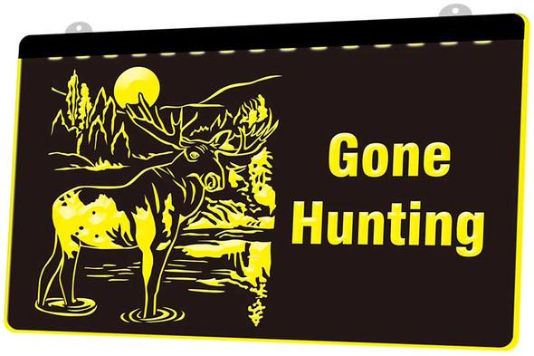 Gone Hunting Acrylic LED Sign