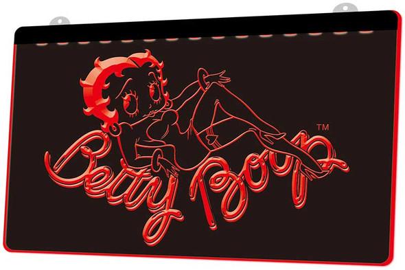 Betty Boop Acrylic LED Sign Option 1