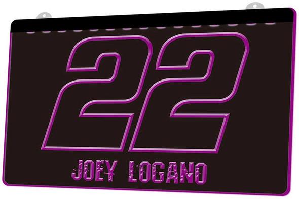 Joey Logano Acrylic LED Sign