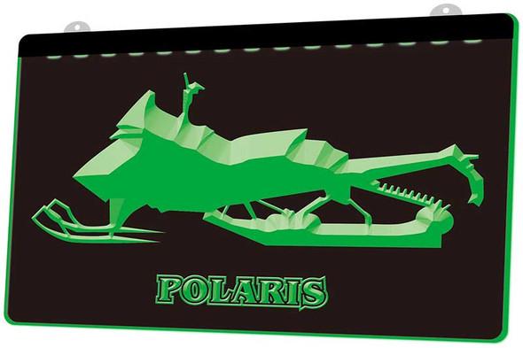 Polaris Snow Mobile Acrylic LED Sign