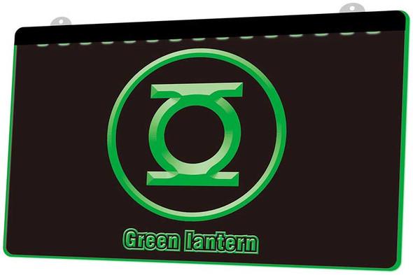 Green Lantern Acrylic LED Sign