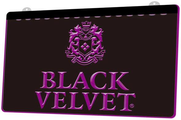 Black Velvet Whiskey Acrylic LED Sign