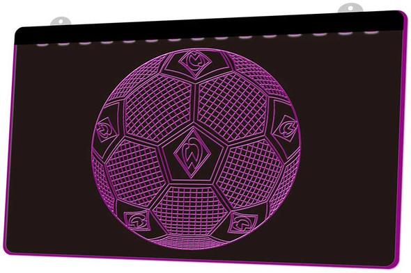 Soccer Ball Acrylic LED Sign