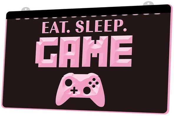 Eat, Sleep & Game Acrylic LED Sign