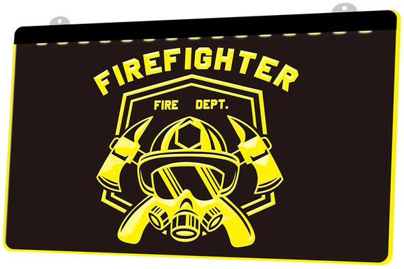 Fireman Acrylic LED Sign
