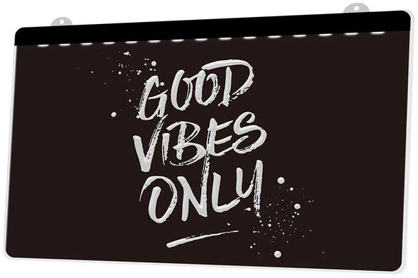 Good Vibes Only Acrylic LED Sign